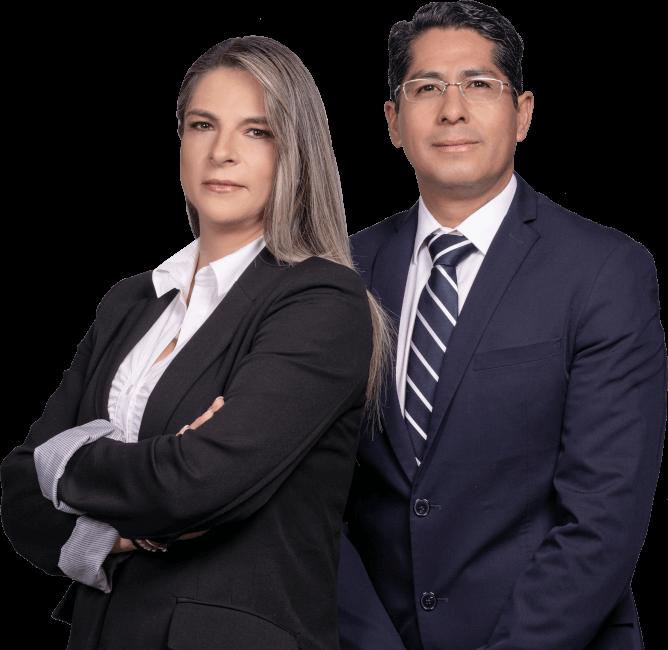 Fundadores de Reactlab, Xavier Narvaes y Fabiola Moscoso