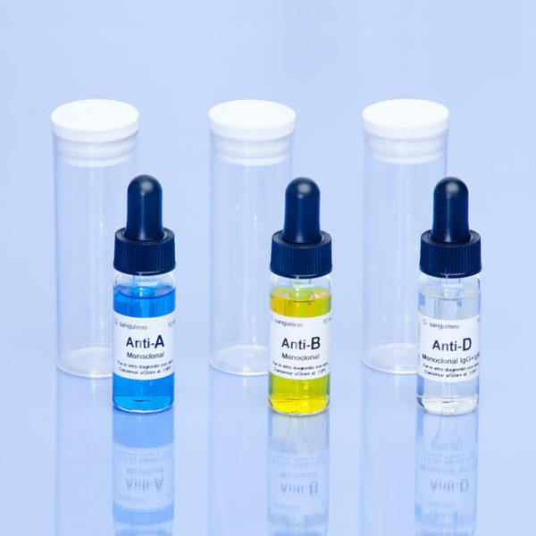 Reactivos de grupos sanguíneos Spinreact