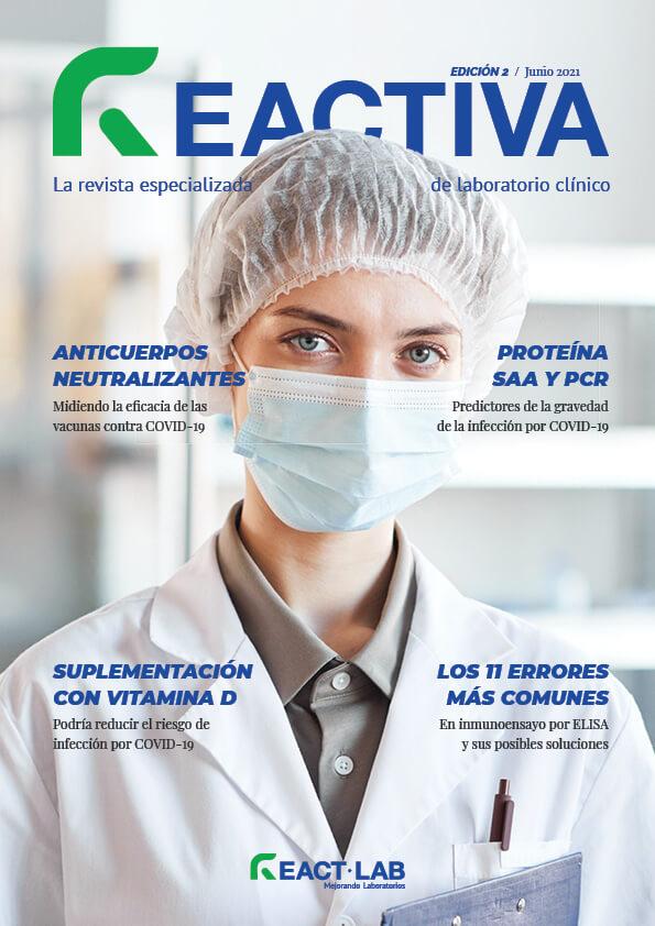 Portada de la segunda edición de la revista Reactiva especializada de laboratorio clínico